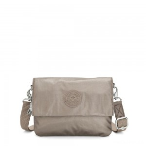 Kipling OSYKA 2 in 1 Crossbody and Pouch with Card Slots Metallic Pewter Gifting