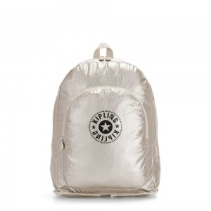 Kipling EARNEST Large Foldable Backpack Cloud Metal Combo
