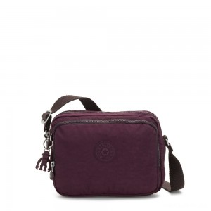 Kipling SILEN Small Across Body Shoulder Bag Dark Plum