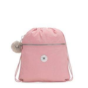 Kipling SUPERTABOO Medium Drawstring Bag Bridal Rose