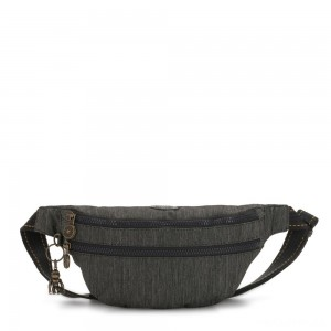 Kipling SARA Medium Bumbag Convertible to Crossbody Bag Black Indigo