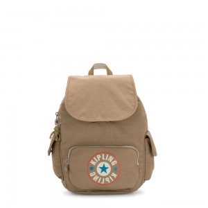 Kipling CITY PACK S Small Backpack Sand Block