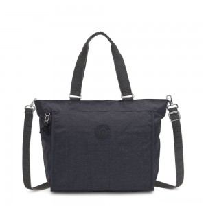 Kipling NEW SHOPPER L Large Shoulder Bag With Removable Shoulder Strap Night Grey