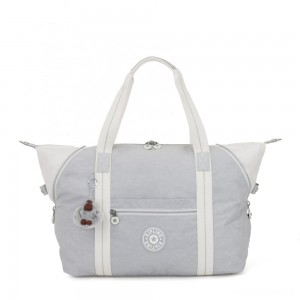 Kipling ART M Travel Tote With Trolley Sleeve Active Grey Bl