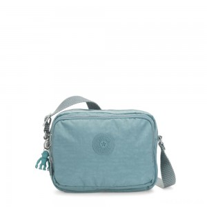 Kipling SILEN Small Across Body Shoulder Bag Aqua Frost
