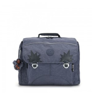 Kipling INIKO Medium Schoolbag with Padded Shoulder Straps True Jeans
