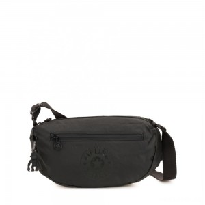 Kipling SENRA Small Crossbody Bag with adjustable shoulder strap Raw Black