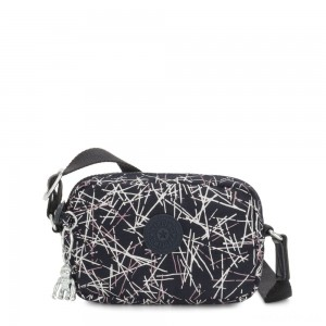 Kipling SOUTA Small Crossbody with Adjustable Shoulder Strap Navy Stick Print Gifting