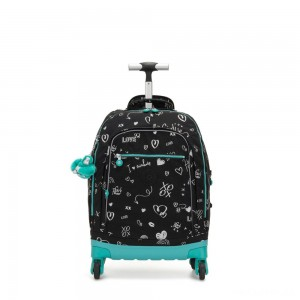 Kipling ECHO Wheeled School Bag Girl Doodle