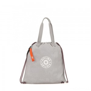 Kipling NEW HIPHURRAY Small Tote with drawable fabric Light Denim