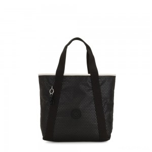 Kipling ZANE Medium tote bag with shoulderstrap Black Club C