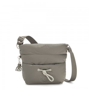 Kipling HAWI Puff effect Medium Crossbody with Shoulder Strap Mountain Grey