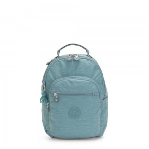 Kipling SEOUL S Small Backpack with Tablet Compartment Aqua Frost