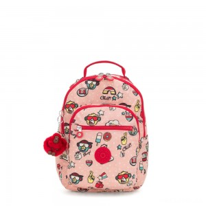Kipling SEOUL GO S Small Backpack Monkey Play