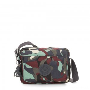 Kipling ABANU Mini Crossbody Bag with Adjustable Shoulder Strap Camo Large