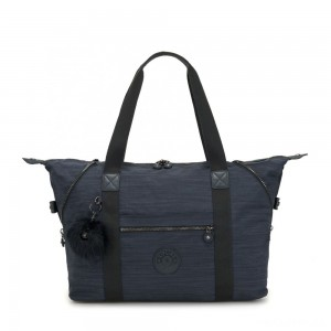 Kipling ART M Travel Tote With Trolley Sleeve True Dazz Navy
