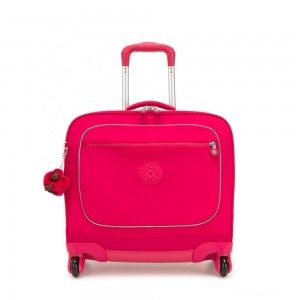 Kipling MANARY 4 Wheeled Bag with Laptop protection True Pink