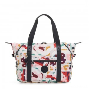 Kipling ART M Travel Tote With Trolley Sleeve Music Print