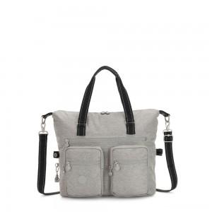 Kipling NEW ERASTO Large Tote with Front Pockets Chalk Grey