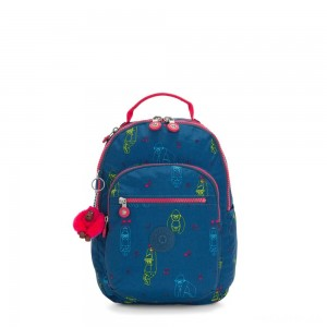 Kipling SEOUL S Small backpack with tablet protection Rocking Monkey