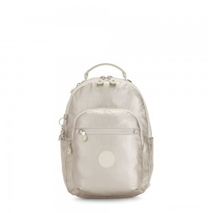 Kipling SEOUL S Small Backpack with Tablet Compartment Cloud Metal