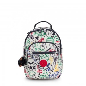 Kipling SEOUL GO S Small Backpack Doodle Play Bl
