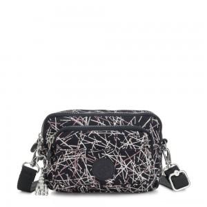 Kipling MULTIPLE Convertible waist bag Navy Stick Print