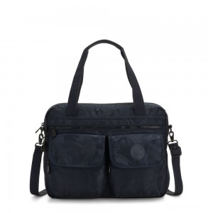 Kipling MARIC Working Bag with laptop protection Satin Camo Blue
