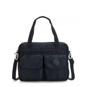 Kipling MARIC Working Bag with laptop protection Satin Camo Blue