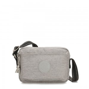 Kipling ABANU Mini Crossbody Bag with Adjustable Shoulder Strap Chalk Grey