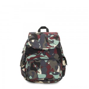 Kipling CITY PACK S Small Backpack Camo Large