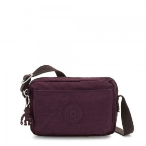 Kipling ABANU Mini Crossbody Bag with Adjustable Shoulder Strap Dark Plum