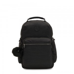 Kipling OSHO Large backpack with organsiational pockets True Dazzling Black