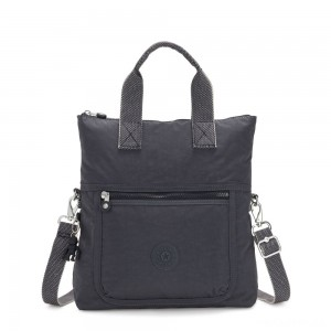 Kipling ELEVA Shoulderbag with Removable and Adjustable Strap Night Grey