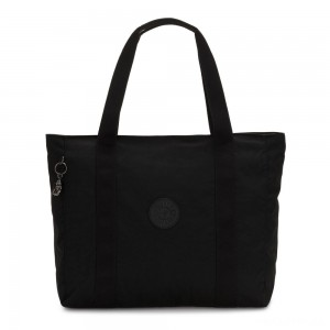 Kipling ASSENI Large Tote Bag with Internal Compartments Rich Black