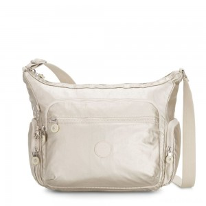Kipling GABBIE Medium Shoulder Bag Cloud Metal