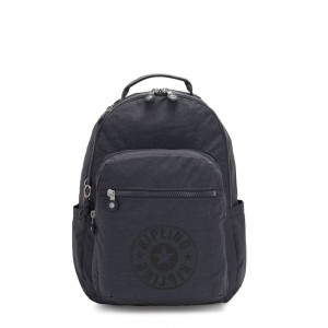 Kipling SEOUL Water Repellent Backpack with Laptop Compartment Night Grey Nc