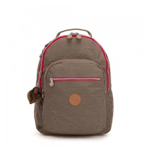 Kipling CLAS SEOUL Large backpack with Laptop Protection True Beige C