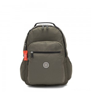Kipling SEOUL GO Large backpack with laptop protection Cool Moss