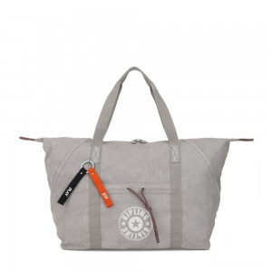 Kipling ART M Medium Tote with drawable fabric Light Denim