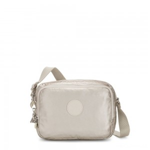 Kipling SILEN Small Across Body Shoulder Bag Cloud Metal