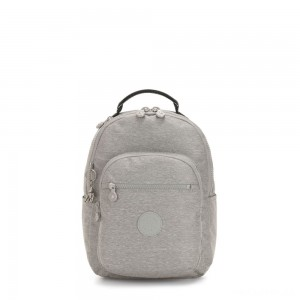 Kipling SEOUL S Small Backpack with Tablet Compartment Chalk Grey