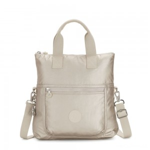 Kipling ELEVA Shoulderbag with Removable and Adjustable Strap Cloud Metal