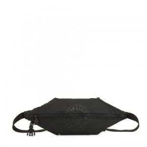 Kipling YOKU Medium Crossbody bag convertible to waistbag Raw Black