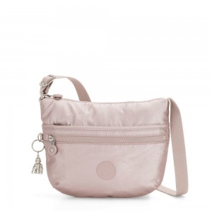 Kipling ARTO S Small Cross-Body Bag Metallic Rose