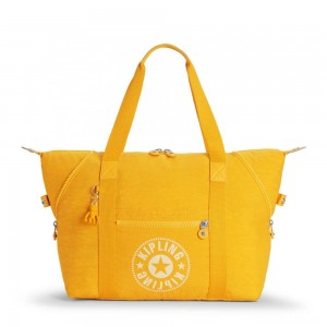 Kipling ART M Medium Tote Bag with 2 Front Pockets Lively Yellow