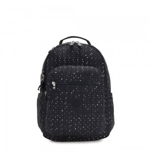 Kipling SEOUL Large backpack with Laptop Protection Tile Print