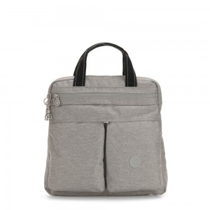 Kipling KOMORI S Small 2-in-1 Backpack and Handbag Chalk Grey