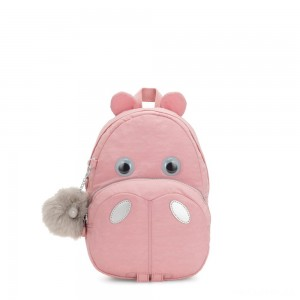 Kipling HIPPO Small hippo kids backpack Bridal Rose