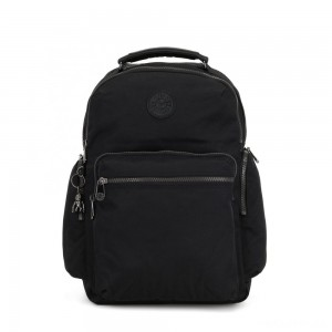 Kipling OSHO Large backpack with organsiational pockets Rich Black